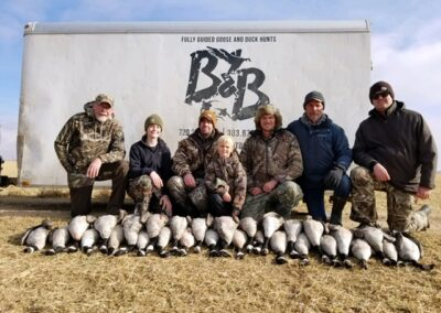 Limits goose hunting in Colorado